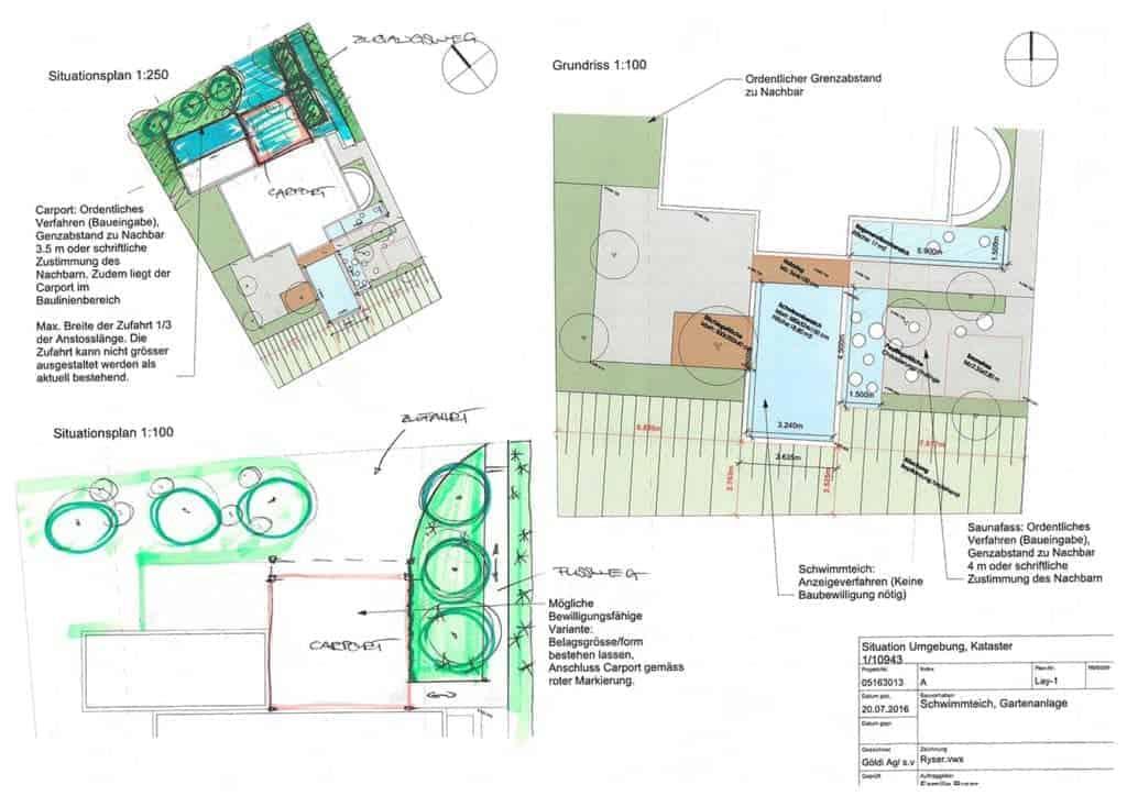 Gartenplanung mit Projektskizze